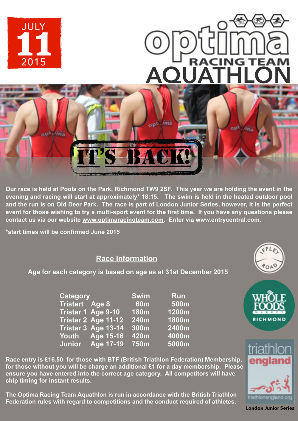 Optima Aquathlon - July 2015